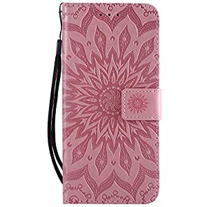 Lomogo Sony Xperia XZ3 Hülle Leder, Schutzhülle Brieftasche mit Kartenfach Klappbar Magnetverschluss Stoßfest Kratzfest Handyhülle Case für Sony Xperia XZ3 –