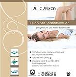 Julie Julsen Feinbiber Premium Spannbettlaken 100 x 200 cm Anthrazit Vergleich