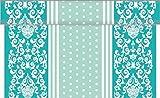Sovie Home Linclass® Airlaid Tischläufer Bine | Mint | Ideal für Hochzeiten und Geburtstage | 40cm x 4,8m | 1 Stück