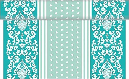 (Sovie Home Tischläufer BINE / Linclass® Airlaid Tischläufer 40cm x 4,80m / Tischdecken-Rolle stoffähnlich / Einmal-Tischdecke für Hochzeit & Partys (Mint))