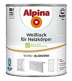 ALPINA Weisslack Heizkörperlack Farbe Weiss Glänzend 2 Liter