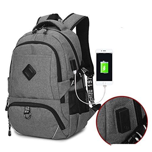 Laptop Rucksack Usb Schultasche Oxford Wasserdichte Laptoptasche Reiserucksack Black