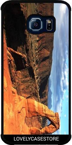 SilikonHülle für Samsung Galaxy S6 EDGE (SM-G925) - Grand Canyon Arizona USA USA Arid Wüste Klippe