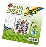 folia 23103 - Mini Puzzle Burg, 14 x 14,5 cm, 25 teile, 10 stück, weiß