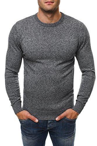 OZONEE Herren Pullover Hoodie Sweatshirt BRUNO LEONI 235 Grau