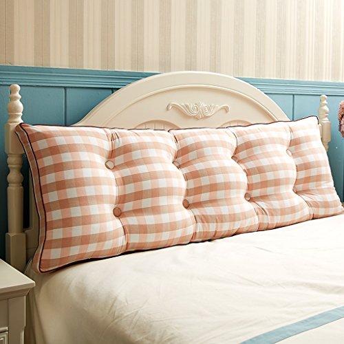 MMM- Coton lavé double long oreiller de chevet de dossier de taille de coussin de coussin de lit de sofa doux ( Couleur : #2 , taille : 120*20*50cm )