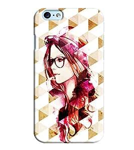 Omnam Girl In Prism Effect Printed Designer Back Cover Case For Apple Iphone 6 Plus