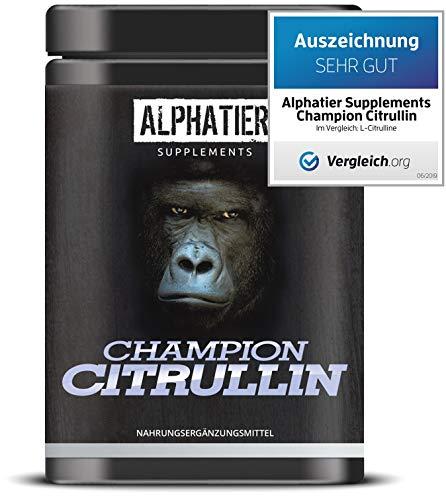 L-CITRULLIN Malat Pulver 500g - höchste Dosierung & Reinheit - ALPHATIER CHAMPION L-Citrulline Malate Powder DL 2:1 - Fitness und Bodybuilding - Premiumqualität aus Deutschland