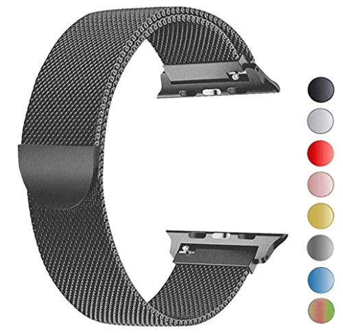 Tervoka Ersatzarmband kompatibel mit Apple Watch 40mm 38mm | Edelstahl Armband | Smartwatch Ersatzarmbänder mit Magnet kompatibel mit iWatch Series 5/4/3/2/1 Spacegray