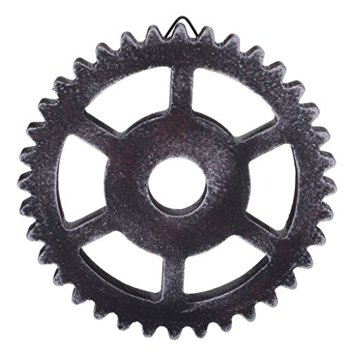 ELECTROPRIME Unique 12cm Wood Steampunk Gear Wall Home Room Hanging Decors Craft Gifts #C