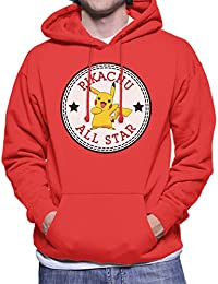 Pikachu Pokemon All Star Converse Logo Men's Hooded Sweatshirt