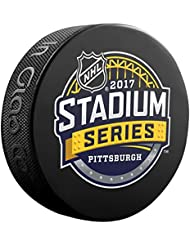 2017 Stadium Series Pittsburgh Logo NHL Souvenir Puck
