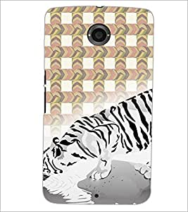 PrintDhaba Lion D-2792 Back Case Cover for MOTOROLA GOOGLE NEXUS 6 (Multi-Coloured)