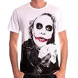 Batman - Joker Poker Homme T-Shirt - Blanc - Taille Medium