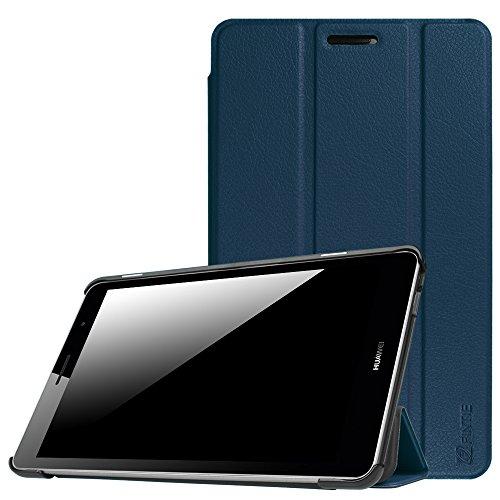 Fintie Huawei Mediapad T3 8 Hülle Case - Ultra Dünn Superleicht SlimShell Ständer Cover Schutzhülle Tasche mit Zwei Einstellbarem Standfunktion für Huawei T3 20,3 cm (8,0 Zoll), Marineblau
