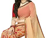 Pramukh saris Womens Georgette Printed S...