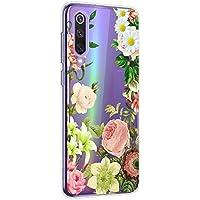 Oihxse Cristal Funda para Xiaomi Mi Mix 2s Transparente Suave TPU Flores Girasoles Amarillos Dibujo Diseño Serie Carcasa Flexible Bumper Anti-Choque Anti-Arañazos Protector (D7)