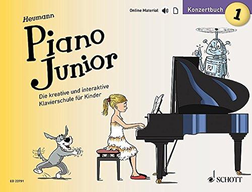 Piano Junior: Konzertbuch 1: Die kreative und interaktive Klavierschule für Kinder. Band 1. Klavier. (Piano Junior - deutsche Ausgabe)