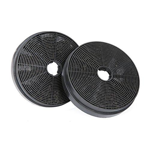 CIARRA Filtro de carbón CBCF002X2 para campana extractora docorativa Filtro Negro