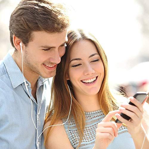 Ohrhörer mit Mikrofon und Fernbedienung, Premium Ohrhörer Stereo Kopfhörer für iPhone XS Max, XS, X, 8,7/8 Plus, 7 Plus (Weiß) - 5