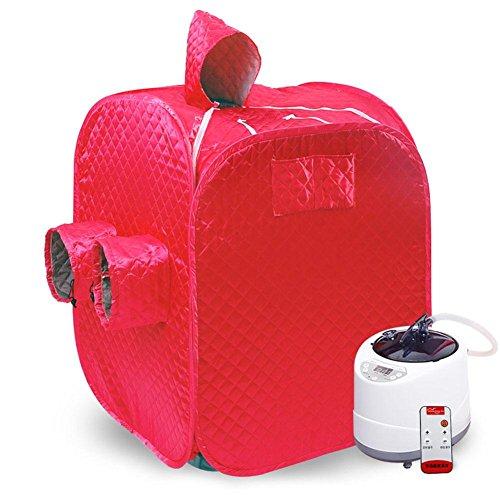 SPA Sauna Box Outdoor Sauna 2 Personen Faltung Sauna Sauna Box Infrarot Home Spa Negative Ionen Detox Tragbare (Lila) , rot