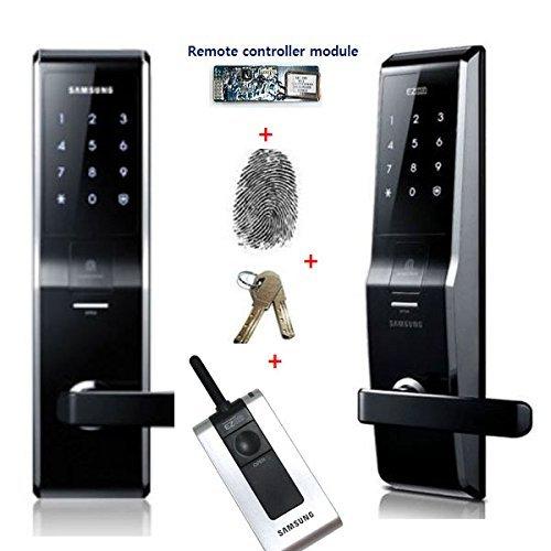 Eon Fingerabdruck Samsung shs-5230(Ezon SHS-H700) Digital Türschloss Keyless-Touchpad Sicherheit SHS + 2von Notfall Schlüssel + Fernbedienung Controller + Fernbedienung Modul
