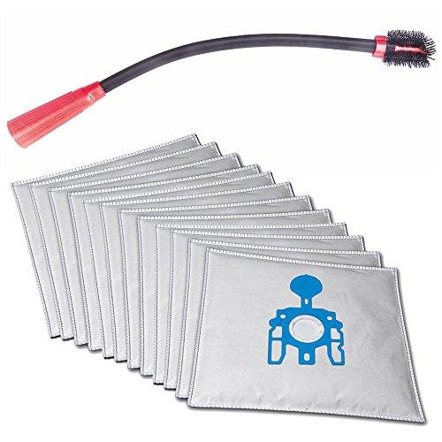 Flexible KFZ-, Boot-, Couch-, Möbel-, Ritzen-, Heizkörper- Staubsaugerdüse passend für AEG AE 3450 - Ingenio, 3455 inkl. 10 Microvlies Staubsaugerbeutel und 1 Rolle 16l Abfallbeutel