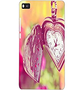 HUAWEI P8 HEART CLOCK Back Cover by PRINTSWAG