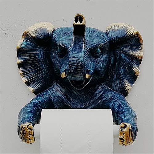 Joeesun Schöne tier gold farbe elefanten toilettenpapier stehen harz papier handtuchhalter papier abdeckung box küche papier halter