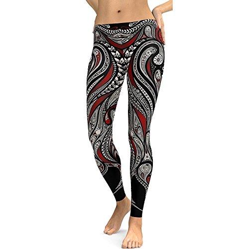 DioKlen Leggings para mujer, diseño de flor de mandala, estampado digital 3D, leggins de fitness, elásticos, pantalones [KDK75006 S]