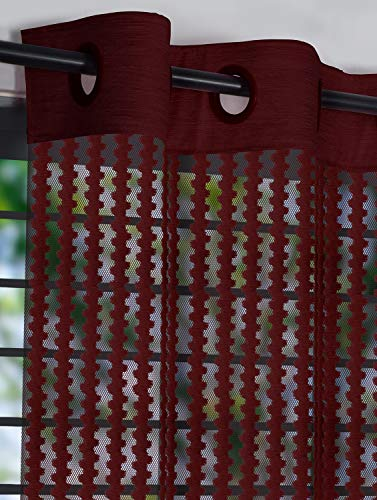 check MRP of red curtains sheer Story@Home