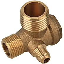 Sanitär Außengewinde 90 Grad Messing Luft Kompressor Überprüfen Ventil Ersatzteile 20*19*10mm Kaufe Jetzt