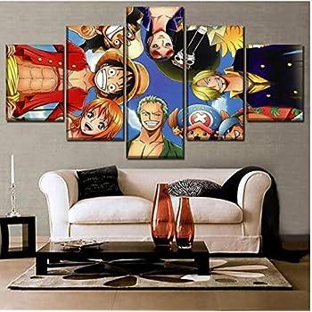 5 pi/èces Multi Panel pour Le Salon Home Decor Gallery Art FJNS Naruto Evil Smile Cadeau de d/écoration Murale de Anime,A,20x30x2+20x40x2+20x50x1 Impression sur Toile