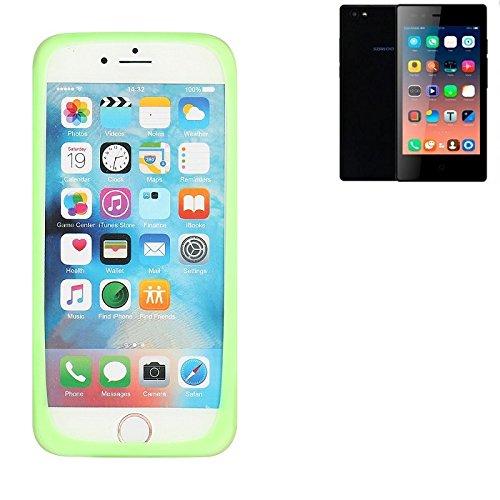 K-S-Trade Für Siswoo A5 Silikonbumper/Bumper aus TPU, Grün Schutzrahmen Schutzring Smartphone Case Hülle Schutzhülle für Siswoo A5
