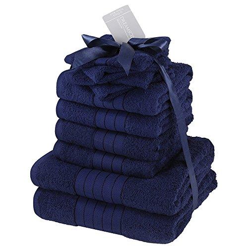 Dreamscene Bale, Navy, 10-Teiliges Badezimmer Handtuch Set