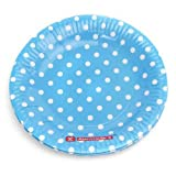 Polka Dot Plates-Blue , Party Supplies ,...