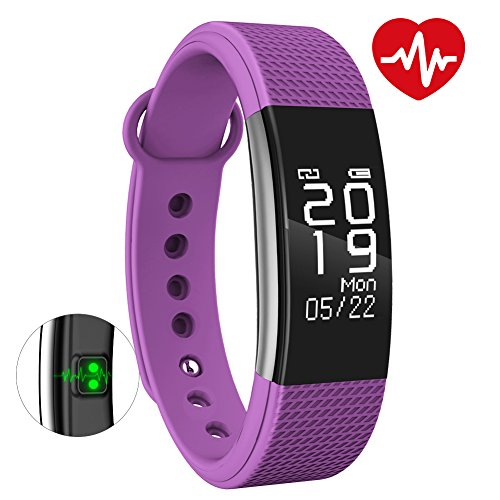 BINGO F1 Waterproof Smart Band With Heart Rate Monitoring And Many More Impressive Features With All Anroid And IOS Device (Purple)