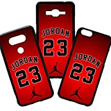 Funda de Movil Carcasa de Moviles Fundas Carcasas de TPU Compatible con el movil Samsung Galaxy S6 Edge Plus Michael Jordan 23 Rojo Basketball