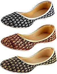 Thari Choice Casual Stylish Bellies for Women (Pack of 3)