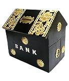 Affaires Schöne Indian handgefertigt Holz Geld Bank in Haus Form mit schönen Design macht,. Eine Spardose Eine einzigartige und elegante Weihnachten oder Geburtstag Geschenk w-40144
