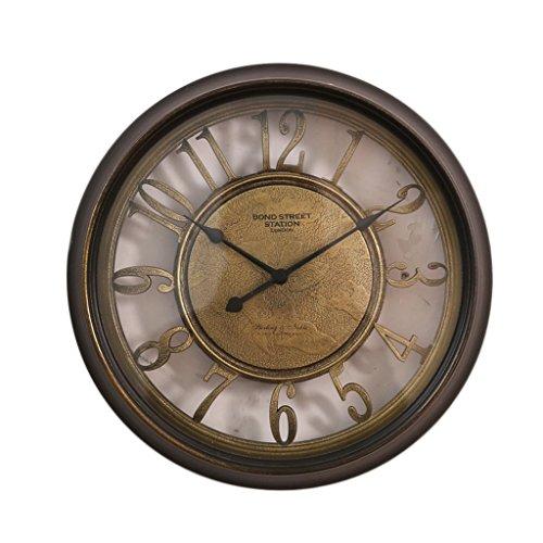 MEILING Europäische Stil Retro Romantik Kreativ Glocke Ruhig Stumm Sweep Sekunden Uhr Modell Haus...