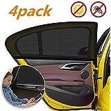 YHmall Solskydd för bil (4-pack) – täcker sidofönster
