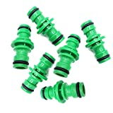 6Pcs Hose Connector Connettore tubo plastica,attrezzi da giardino lavaggio rapido per tubo dell' acqua di irrigazione connettori adattatore - water hose fittings(verde)
