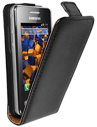 Preisvergleich Produktbild mumbi PREMIUM Leder Flip Case für Samsung Star II GT-S5260 Tasche Hülle