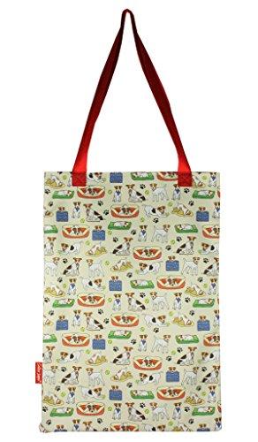 Selina-Jayne Jack Russell Limited Edition Designer Baumwolltasche (Tote Bag) (Rettungs-jack)