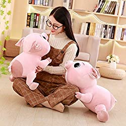 Rocco Stuffed & Plush Animals . - 30/40/50/60cm Cute Piggy Plush Toy Soft Stuffed Cartoon Animal Big Eyes Pig doll Baby accompany nap Pillow Kids by 1 PCs