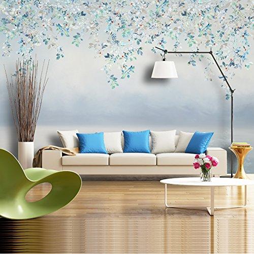 Lzhenjiang Wandbilder Die Bedeutung Der Malerei Blatt Blätter Blumen Bett  Sofa Tv Hintergrund Tapete Tapete350*245cm(W*H)