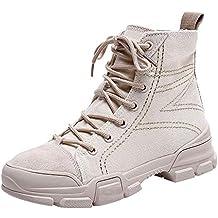 Botas Militares Botas Camperas para Mujer Otoño Invierno 2018 Moda PAOLIAN  Zapatos de Lona Señora Casual ed5395285c5e