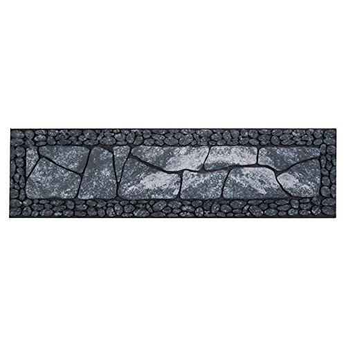 Fußmatte Gummi Stufenmatte Design Steinboden grau 23 x 89 cm Fußabtreter Außenbereich