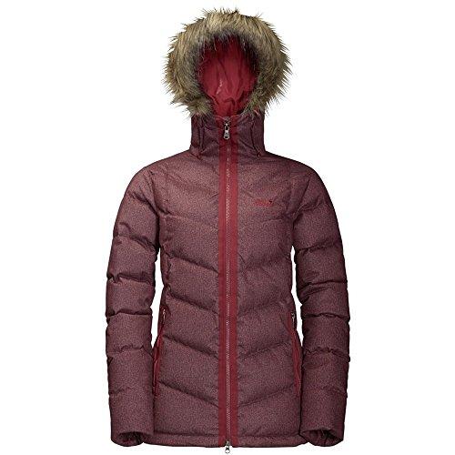 Jack Wolfskin Baffin Bay Damenjacke, Damenmantel dunkelrot
